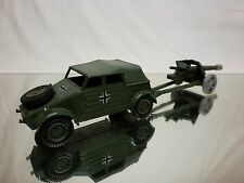 DINKY 617 VW VOLKSWAGEN KDF + 50mm PAK ANTI TANK GUN - ARMY GREEN - MILITARY