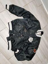 Vintage Black Satin Jacket, Los Angeles KINGS, NHL retro Hockey Starter sz.XL