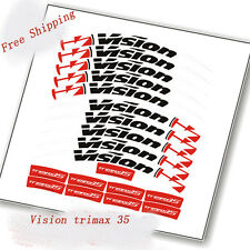Vision Trimax 35 Road Bike Bicycle Carbon clincher Wheel set Rim Stickers Decals