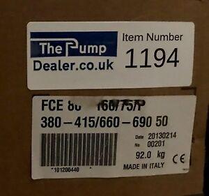 Lowara Xylem FCE 80 160/75/P End Suction Pump 7.5kw 415 #1194