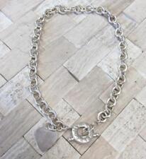"Tiffany & Co. Sterling Silver Heart Tag Necklace w/ Toggle Clasp ~ 16"" 3-E8065"