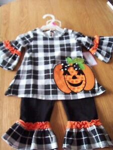 EMILY ROSE SIZE 2T HALLOWEEN 2 PIECE SET, NEW, ADORABLE!