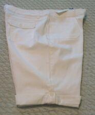 Womens Charter Club White Cotton/Spandex Bermuda Shorts/Skimmers, 16, NWT