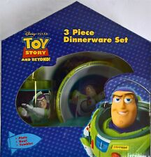 ~ Toy Story - BUZZ DINNER LUNCH FEEDING SET MEALS Plate Bowl Cup