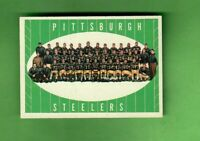 1961 TOPPS FOOTBALL #112 PITTSBURGH STEELERS TEAM CARD NR MT CENTERED