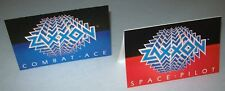 Sega ZAXXON Set Of (2) NOS Mini Promo Sales Flyers SPACE PILOT & COMBAT ACE