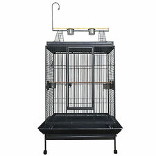 XX-Large 223cm Macaw Parrot Aviary Bird Cage Perch With Gym On Wheels