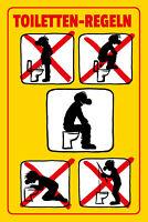 Toiletten - Regeln Blechschild Schild gewölbt Metal Tin Sign 20 x 30 cm W1107