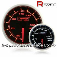 Prosport 52mm Super Amber / White Stepper Motor Water Temp Temperature Gauge °C