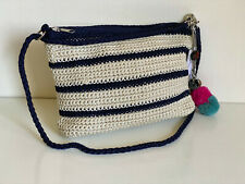 THE SAK GREENWOOD ACHOR STRIPE 3-IN-1 DEMI CROSSBODY / SHOULDER BAG / CLUTCH $69
