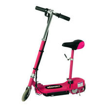 Kids Electric E Scooter Pink Battery Operated Removable Seat Adjustable Height