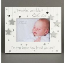 "New Baby Photo Frame Twinkle Twinkle Little Star Girl Boy Unisex Gift 5"" x 3.5"""