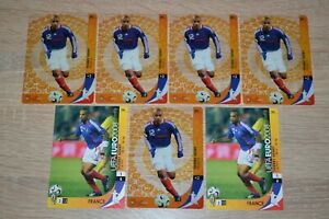 (7) 2008 Panini UEFA Euro Thierry Henry France #194 and #220