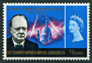ST. CHRISTOPHER NEVIS AND ANGUILLA 1966 1/2c SG151 mint MH FG Churchill #A02