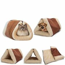 Hot Cosy Warm2 in1 Kitty Shack Self Heating Pet Tunnel Bed Mat Cat Dog Portable