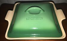 Le Creuset Light Green Square Casserole With Lid 3 Qt Stoneware Brand New