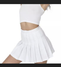 BRAND NEW American Apparel White Pleated Tennis Skirt XS / Extra Small