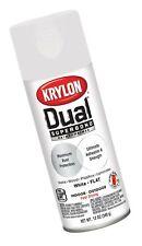 Krylon K08830007 Dual Superbond Paint + Primer, White, Flat, 12 Ounce