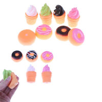 8Pcs Colorful Bread Ice Cream Soft Rubber Float Squeeze Sound Baby Wash Bath Toy