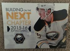 2016-17 Buffalo Sabres Season Ticket booklet Jack Eichel (mini poster on back)
