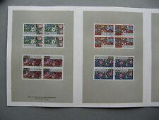 GERMANY BRD, spec. issue 1985, blocks of 4 CTO FDC , flower butterfly snail bee
