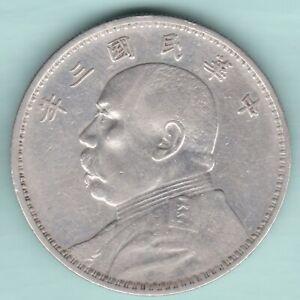 CHINA 1912-1949 YUAN SHIKAI FAT MAN DOLLAR ONE YUAN EX RARE SILVER COIN