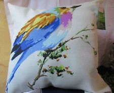 """BLUE Song Birds  Indoor/Outdoor Pillow,16"""" x16"""",  New w. tags MAINSTAYS USA"""