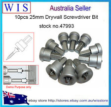 10pcs 25mm Drywall Bits,Ph2 Drywall Screw Phillips Screw Driver Bits Set-47993