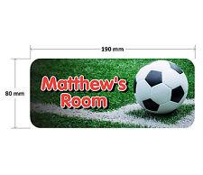 Football Door Plaque Red - Soccer Personalised Childrens Bedroom Sign Boys Girls
