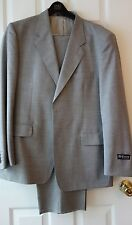 NEW DAVICO 100% WOOL GRAY MEN'S SUIT sz. 42 R MADE IN ITALY