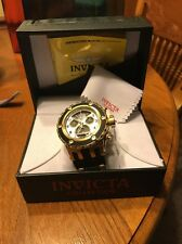 "Invicta 16314 Men's Subaqua Reserve Chrono ""Twisted Metal"" Gold & Black"