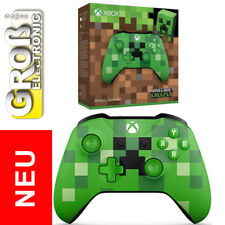 Control Pad Controller Xbox One Wireless Minecraft Creeper GREEN Microsoft NEU