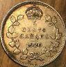 1920 CANADA SILVER 5 CENTS COIN