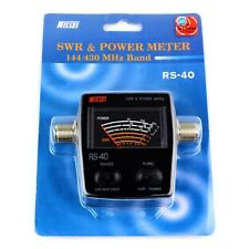 144/430MHz 0-200W MJ-MJ Connector NISSEI RS-40 SWR & Power Meter For 2-way Radio