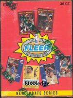 1991-92 91-92 FLEER SERIES 2 NBA SEALED BOX: MICHAEL JORDAN/WILKINS+MUTOMBO AUTO