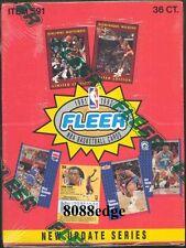 1991-92 91-92 FLEER SERIES 2 NBA SEALED BOX: MICHAEL JORDAN/WILKINS+MUTOMBO AUTO