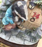 Leonardo Collection Badger Little Nook Village Vintage Ornament Nature Wildlife