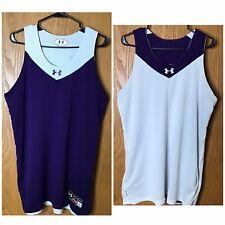 Men's Under Armour Purple/White Ripshot Sleeveless Reversible Jersey Sz L Large