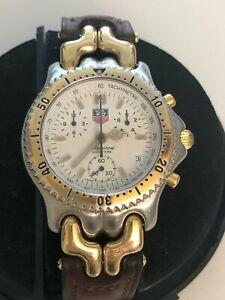 tag heuer sel chronograph sports elegance on a strap