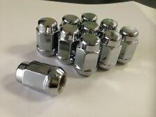 M12x1.5 Chrome Acorn Bulge Lugnuts Set of 20 Closed End Wheel Lug nuts 19 HEX