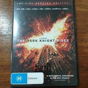 The Dark Knight Rises DVD R4 VERY GOOD – FREE POST 2-Disc Special Edition