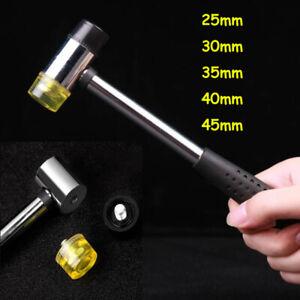 25mm - 45mm Mallett Rubber Head Hammer Soft Double Face Hammer PVC Handle Shaft