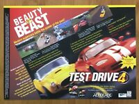 Test Drive 4 PS1 Playstation 1 PC 1997 Vintage Fold-Out Poster Official Art Rare