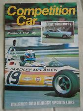 Competition Car magazine No 6 1972 Audi 100 Coupe S, Chris Amon