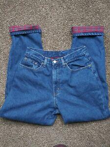 VTG LL Bean Jeans Pants Womens 10 Reg Original Fit 100% Cotton Flannel Lined