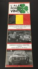 ORIGINAL L' ALFA ROMEO VINCE 1970 BELGIUM RALLY 1750 SPIDER & GTV VICTORY POSTER