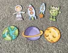 Spaceship, Alien, Astronaut & Planets Table Kids Party Confetti - Space Party