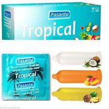 preservativi 12 pz tropical profilattici condoms Pasante 3 gusti frutta mix
