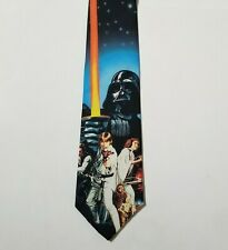 NWT VTG 1994 Ralph Marlin Wallywear Necktie Poster Art Vader Skywalker Leia Solo