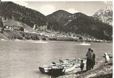 160401 BELLUNO AURONZO DI CADORE - LAGO BARCHE Cartolina FOTOGRAFICA viagg. 1962